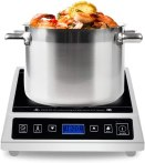Commercial induction Cooktop, Warmfod Electric Countertop Burner 1800W(120v) LCD Screen