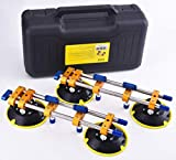 ZUOS A Pairs of Seamless seam Setter with 6' Suction Cups for Seam Joining & Leveling/Professional Countertop, granite, Stone, Marble Slab Installation. (double pole 2 PCS) (2 pcs)