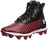 Under Armour Boys' Hammer Mid RM Jr. Football Shoe, Black (003)/Red, 6 M US Big Kid