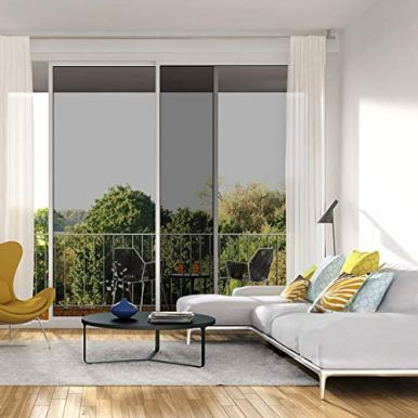 Window-Film-One-Way-Mirror-Film-Daytime-Privacy-Static-Non-Adhesive-Decorative-Heat-Control-Anti-UV-Window-Tint-for-Home-and-Office-Black-Silver-6-Mil-177-Inch-x-65-Feet