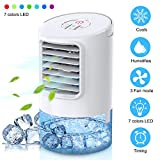 Mkocean Personal Air Cooler, Mini Space Cooler, Desktop Air Conditioning Fan with 3 Wind Speeds, Compact Evaporative Cooler Air Humidifier, Clean Tank Technology, Perfect for Office Dorm Nightstand