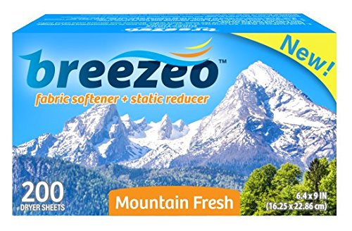 Breezeo Fabric Softener Dryer Sheets