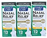 FamilyCare Nasal Relief Spray, Pump Mist, Anti-drip, Severe Congestion, (Oxymetazoline HCI) 12 Hours, 3 Pack