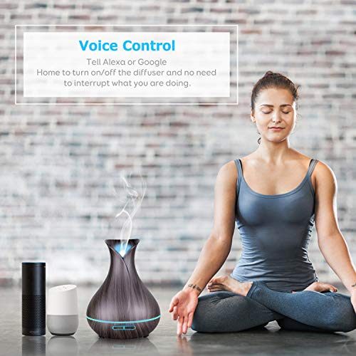 WiFi-Essential-Oil-Diffuser-Maxcio-400ml-Smart-Aromatherapy-Diffuser-Ultrasonic-Humidifier-with-Colorful-LED-Lights-Smart-Phone-Remote-Control-AlexaGoogle-Home-Compatible-TimerSchedule-Setting