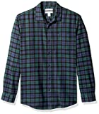 An Amazon brand - Allover plaid and midweight flannel make this button-up shirt a go-to pick when the temperature drops