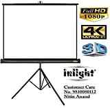 Inlight Cineview Series Tripod Type Projector Screen, 6 Ft. (Width) x 4 Ft. (Height), Supports UHD, 3D and 4K Ready Technology