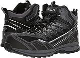 Fila Men's Hail Storm 3 Mid Composite Toe Trail Work Shoes Hiking, Castlerock/Black/Metallic Silver, 9 D US