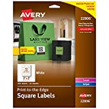 Avery Square Labels for Laser & Inkjet Printers, Print-to-The-Edge, 2' x 2', 300 Labels (22806)