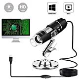 USB Microscope 1000x Digital Handheld Microscope, 8 LED USB 2.0Magnification Endoscope Mini Camera with OTG Adapter and Metal Stand, Compatible with Mac and Window 7 8 10 2000 XP Vista