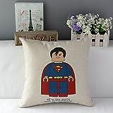 "TavasDecor 17"" Marvel DC Comics Minifigure Superhero Home Throw Pillow Case Cushion Cover - Cartoon Superman"
