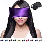 Happy Wraps Lavender Eye Pillow - Weighted Hot Cold Aromatherapy Lavender Eye Pillows for Yoga Sleeping Migraines Pain Stress Relief - Gifts for Christmas, Employees, Women - Free Eye Mask - Amethyst