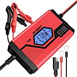 SUAOKI Car Battery Charger 4 Amp 6/12V Fully Automatic Battery Maintainer for Car Truck Motorcycle