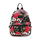 Fvstar Skull Cute Teen Girls Backpack Outdoor Mini Backpack Purse Canvas Travel Backpack for Valentines Birthday Gifts