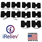 iReliev TENS Unit and EMS Electrodes Pads 3.5' x 5' inch Butterfly 10 Pads (5 Packs, 2 per Pack)