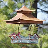 Parasol BW4SHCL Bouquet Basketweave Shelter Hummingbird Feeder Clear