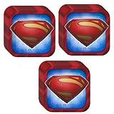 Man of Steel Superman Dinner Plates - 24 Pieces by Hallmark