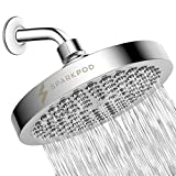 SparkPod Shower Head - High Pressure Rain - Luxury Modern Chrome Look - Easy Tool Free Installation - The Perfect Adjustable & Heavy Duty Universal Replacement For Your Bathroom Shower Heads