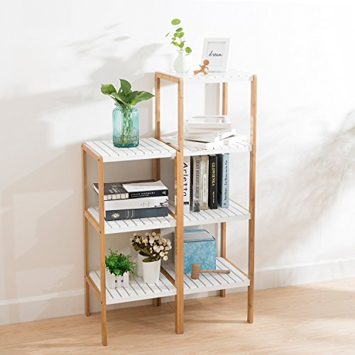 Ollieroo Bamboo Utility Shelves Bathroom Rack Plant Display Stand ...