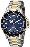 Timex Men's TW2R64700 Harborside Two-Tone/Blue Stainless Steel Bracelet Watch