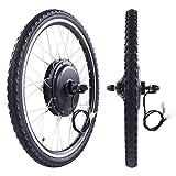 Thegreatshopman 48V 1000W Rear Wheel Electric Bicycle Cycle E Bike 26' Conversion Kit Hub Motor