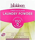 Biokleen Laundry Detergent Powder, Concentrated, Eco-Friendly, Non-Toxic, Plant-Based, No Artificial Fragrance or Preservatives, Free & Clear, Unscented, 10 Pounds - 150 HE Loads/100 Standard Loads