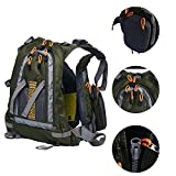 Amarine Made Fly Fishing Backpack Adjustable Size Mesh Fishing Vest Pack, Fly Fishing Vest and Backpack Combo-D77 (Army Green)