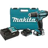 Makita FD05R1 12V Max CXT Lithium-Ion Cordless Driver-Drill Kit, 3/8'