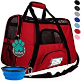 PetAmi Premium Airline Approved Soft-Sided Pet Travel Carrier | Ventilated, Comfortable Design with Safety Features | Ideal for Small to Medium Sized Cats, Dogs, and Pets (Large, Red)