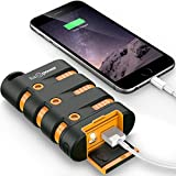 FosPower PowerActive 10200 mAh Power Bank - 2.1A USB Output [Water/Shock/Dust Proof] Rugged Heavy Duty Portable Battery Charger Compatible with iPhone/iPad Pro, Android Smartphones, Tablets & MP3