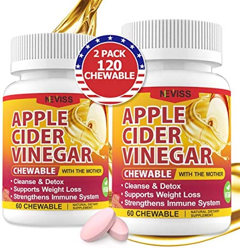 (2 Pack)Organic Apple Cider Vinegar Pills with The Mother for Weight Loss, Detox & Cleanse, ACV Pills for Women, Vegan Apple Cider Vinegar Tablets 1000mg Alternative to ACV Gummies, Capsules-120 Tabs 1