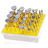 Lukcase 50pcs Diamond Coated Grinding Head Grinding Burrs Set for Dremel Rotary Tool ...