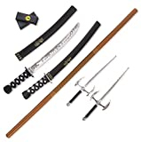 Liberty Imports Ninja Warrior Weapons Playset with 2 Kantana Swords, 2 SAIS, and Bow Staff