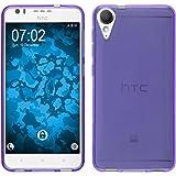 PhoneNatic Silicone Case for HTC Desire 10 Lifestyle Transparent Purple - Cover + Protective foils