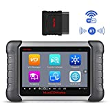 Autel MK808BT Wireless Bluetooth & Full System Car OBD2 Diagnostic Scanner with IMMO/EPB/BMS/SAS/DPF/TPMS/Oil Reset, Advanced Version of MK808,Bi-Directional Control, ABS Auto Bleed, Key Fob Coding