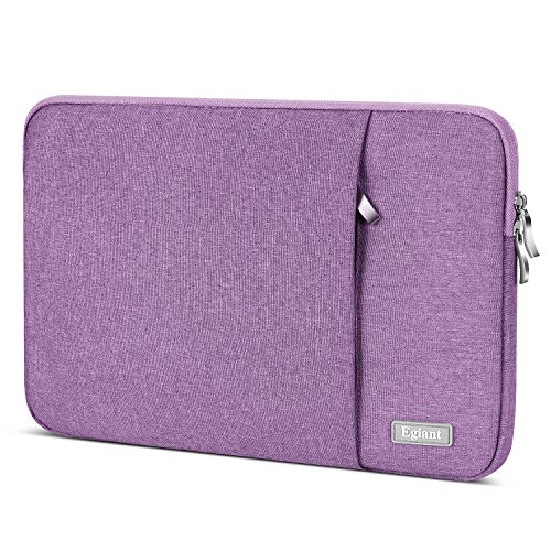 Laptop Sleeve Case 13.3 inch,Egiant Waterproof Protective Fabric Bag Compatible Mac Pro 13 Retina|Mac Air 13|Surface Book|Stream 13|Chromebook 13,12.5-13' Chromebook Computers Notebook Cover-Purple