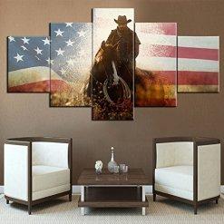 American Cowboy Decor Wall Art