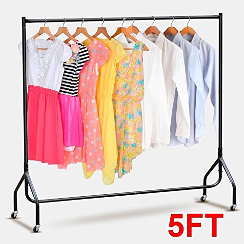 go2buy Heavy Duty Quality 5ft Strong Iron Clothes Rail Stand Rack Market Hanging Display