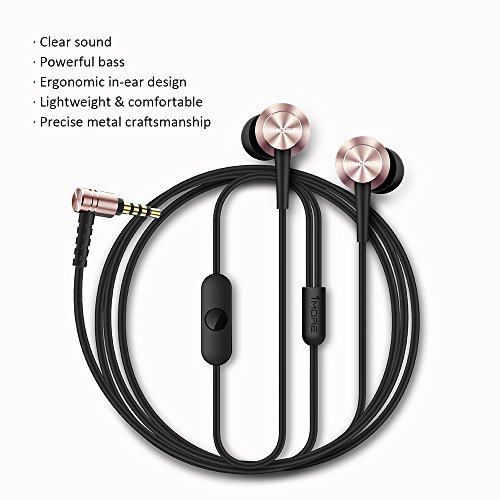 1MORE Piston Fit in-Ear Headphones (Earphones/Earbuds) with Apple iOS and Android Compatible Microphone and Remote (Silver) 2