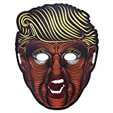 WXLAA LED Halloween Trump Mask Donald Trump Halloween Cosplay Light Up Face Mask For Kids Republican Presidential Candidate Glow LED Mask