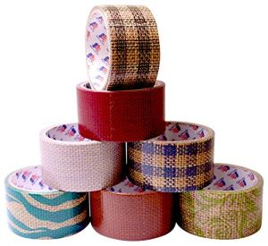 Fashion Burlap Assorted Duct Tape Designs, 1.88 x 10 yds (Pack of 7)