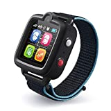 TickTalk 3 Unlocked 4G Universal Kids Smart Watch Phone with GPS Tracker, Combines Video, Voice and Wi-Fi Calling, Messaging, Camera, IP67 Waterproof&SOS (Red Pocket SIM on at&T's Network Black)