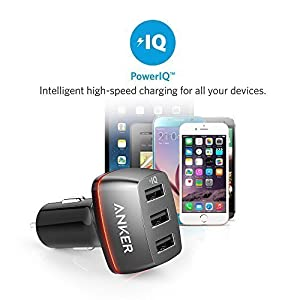 Anker 36W 3-Port USB Car Charger, PowerDrive+ 3 for iPhone X / 8 / 7 / 6s / Plus, iPad Pro / Air 2 / mini, Galaxy S7 / S6 / Edge / Plus, Note 5 / 4, LG, Nexus, HTC and More