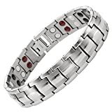 Willis Judd Double Strength 4 Element Titanium Magnetic Therapy Bracelet for Arthritis Pain Relief Adjustable