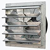 Iliving 20 Inch Variable Speed Shutter Exhaust Fan, Wall-Mounted, 20'