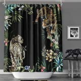 MACOFE Shower Curtain Fabric Shower Curtain Art Print Polyester Fabric,Waterproof, Machine Washable,Hooks Included,Bathroom Decoration Original Design Hand Drawing,71x71inch