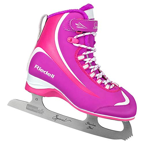Riedell 615 Soar/Kids Beginner/Soft Figure Ice Skates/Color: Purple and Pink/Size: 9