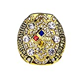 GF-sports store A Set of 6 Pittsburgh Steelers Super Bowl Championship Replica Ring by Display Box Set (2008 Pittsburgh Steelers)