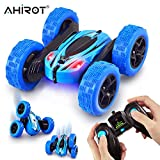 AHIROT RC Cars Remote Control Stunt Car - 2.4GHz 360 Degree Off-Road Double Sided Rotating Tumbling High Speed Rock Crawler Vehicle with Headlights for Kids / Children (Blue)