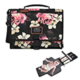 LOKASS Portable Baby Changing Pad Lightweight Floral Diaper Clutch with Stroller Strap for Mom,Peony