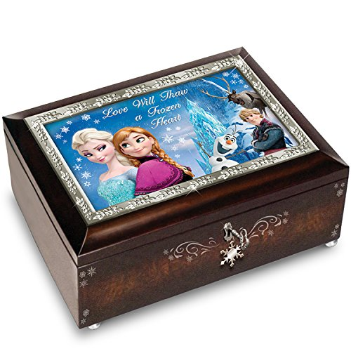 The Bradford Exchange Disney Frozen Brown Music Box Plays The Melody of Let It Go